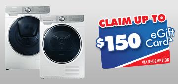 32e6ef278620  150 The Good Guys eGift Card on Samsung Laundry Pair WW85M74FNOR    DV90N8289AW - Claim by 22 05 19