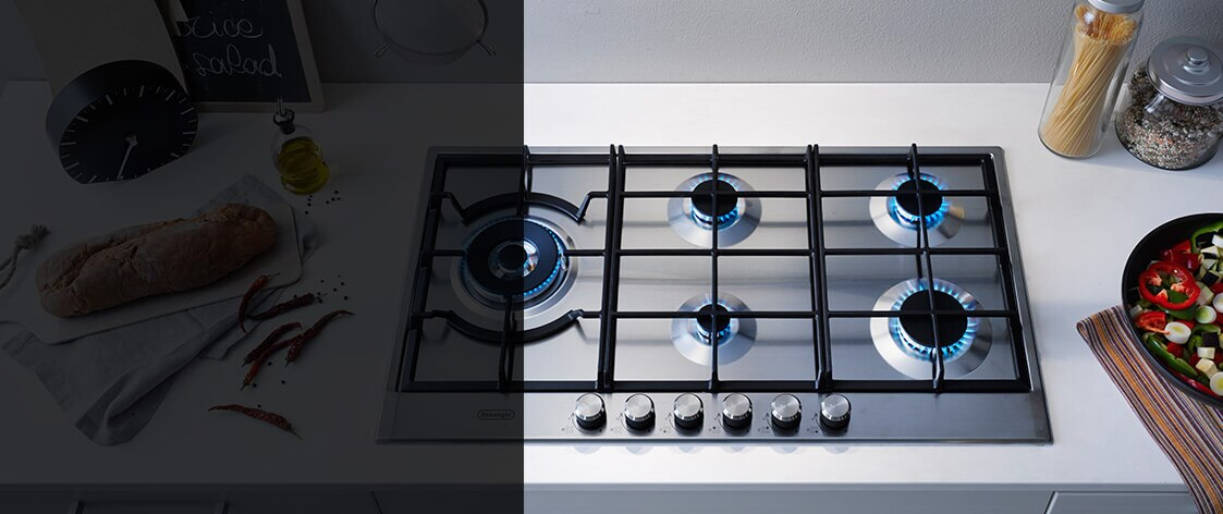 DeLonghi cooktop range, available at The Good Guys