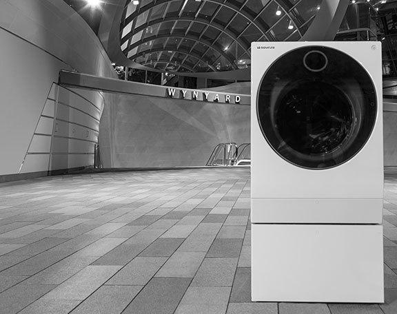 LG signature timeless design washer