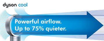 Powerful airflow up to 75% quieter